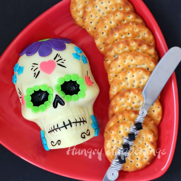 Day Of The Dead Appetizer Decorated Sugar Skull Made Out Of Cheese