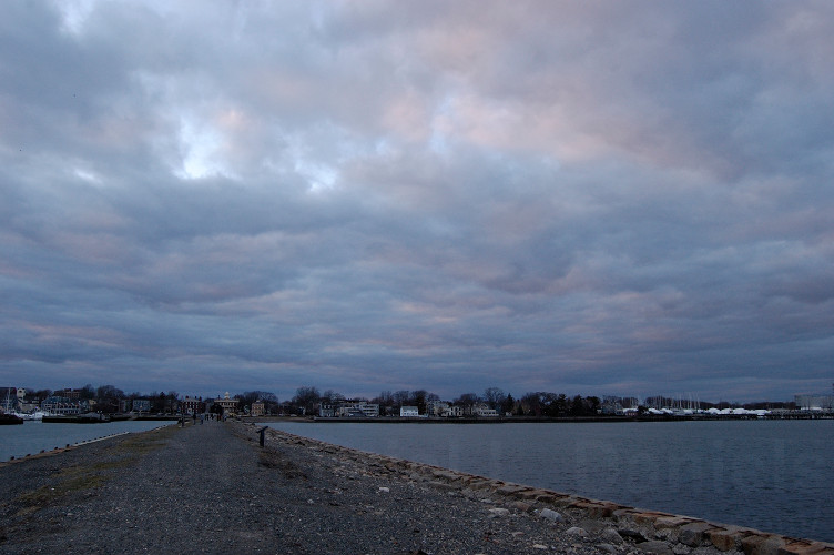 Derby Wharf, ocean and clouds in Salem, MA (photo by Gabriel L. Daniels)
