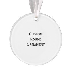 Custom Round Photo Acrylic Christmas Ornament