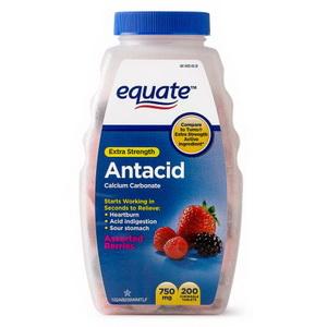 Kẹo ngậm trị đau dạ dày Equate Extra Strength Antacid Calcium Carbonate