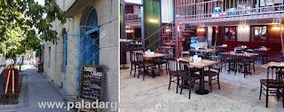 Rendebú cafe Barrio Italia fachada y comedor