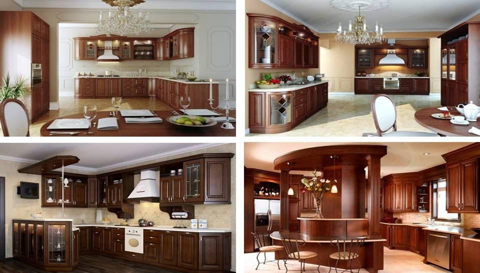 Modern Brown Wood Kitchen Cabinets - Decor Units