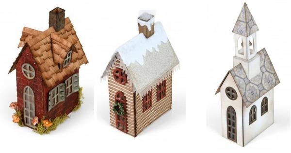 Guida alle fustelle casetta per il villaggio di natale di for Tegole del tetto della casetta