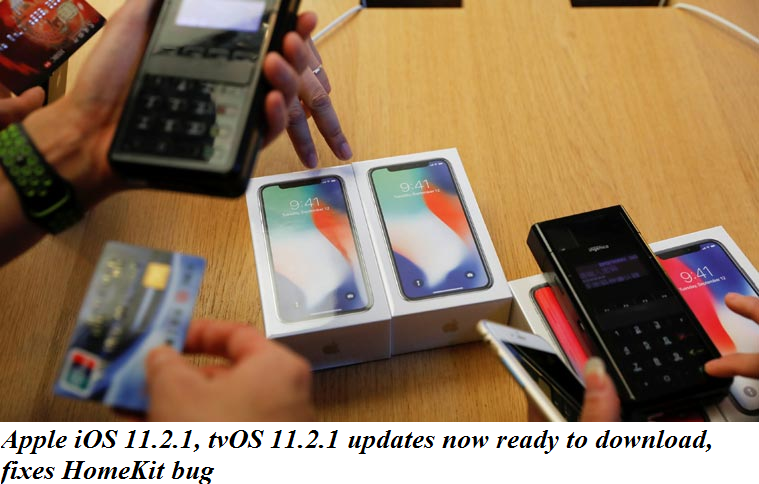 Apple iOS 11.2.1, tvOS 11.2.1 updates now ready to download, fixes HomeKit bug