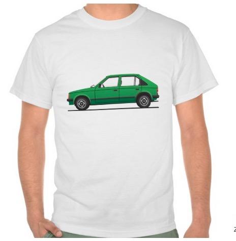 Opel Kadett D t-shirts Vauxhall Astra Mk1 green