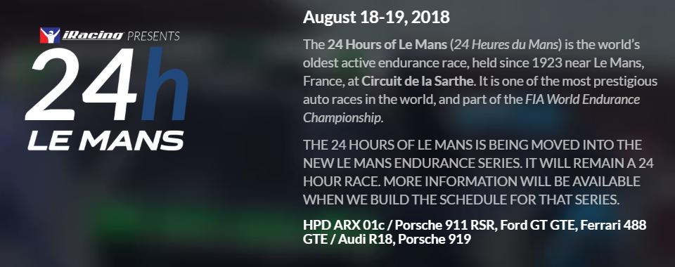 Intellectual Property: 24H Le Mans