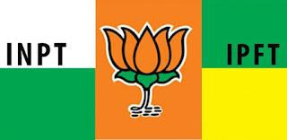 BJP + IPFT  Tripurao tabuk chini