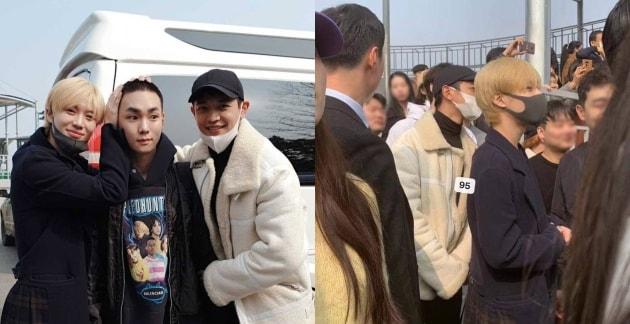 Los miembros de SHINee muestran su apoyo a Key en su día de alistamiento