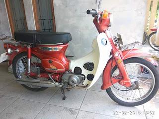 Dijual Motor Bebek antik Honda C70 Tahun 1977