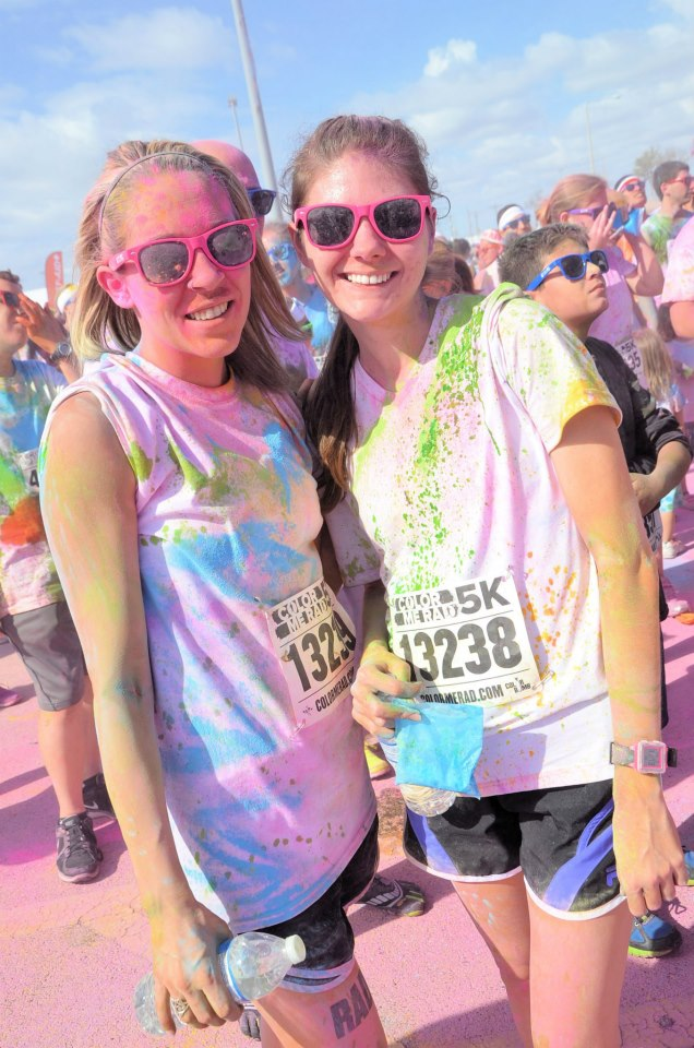 Color Me Run with Maid of Honor