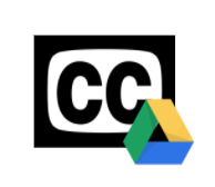 Closed Captioning Symbol with Tri-colored Triangle Symbol for Google Drive