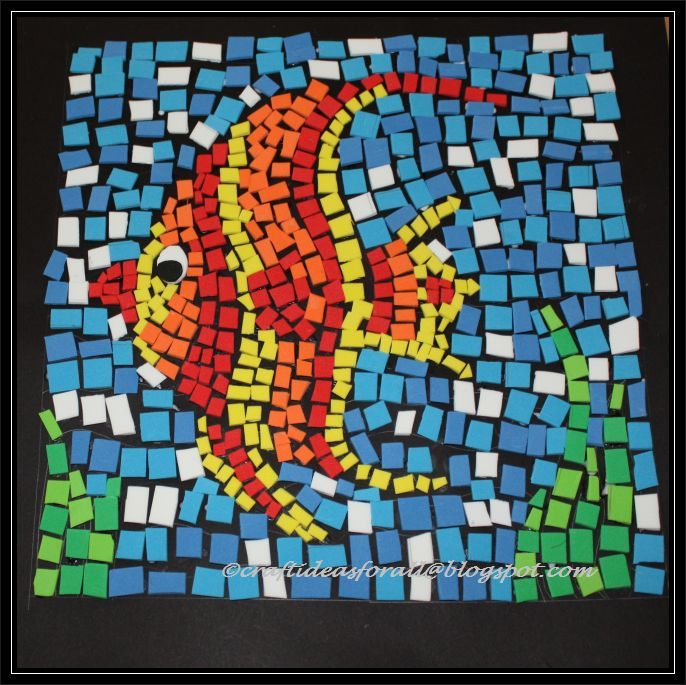 mosaic templates for kids - craft ideas for all foam mosaic art