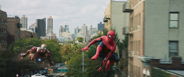 Spidey e Iron-Man en Spider-Man Homecoming Film