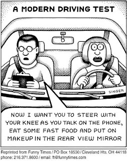 driving tests cartoons