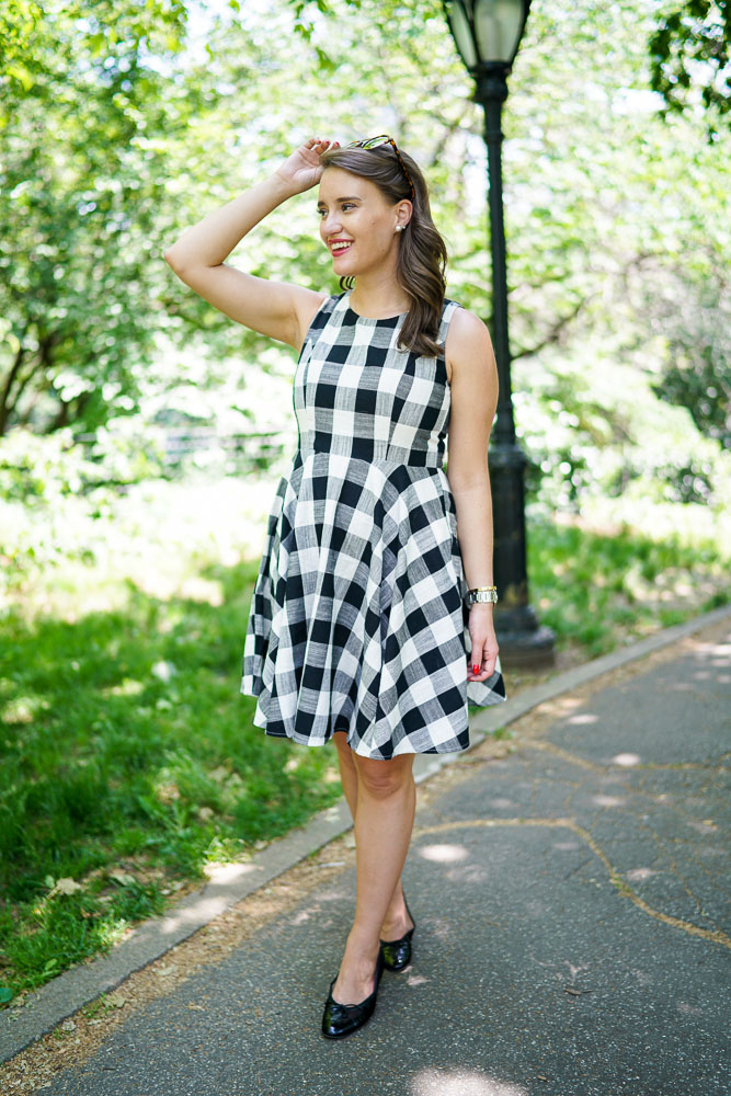 Krista Robertson, Covering the Bases,Travel Blog, NYC Blog, Preppy Blog, Style, Fashion Blog, Travel, Fashion, Preppy Style, Blogger Style, Gingham Dresses, Central Park Boating, NYC Activities, Summer Dresses, Summer Fashion, Summer Style, Macy's