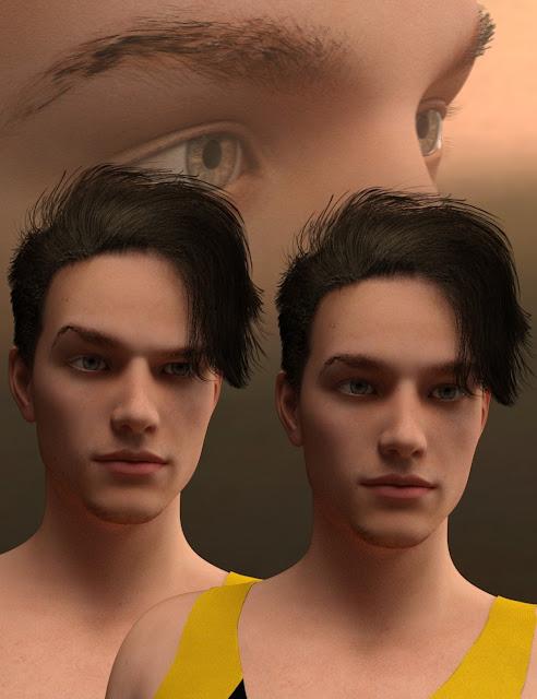 Killian Hair for Genesis 3 Male