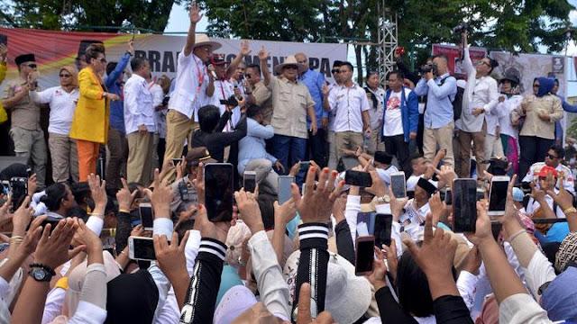 Kampanye di Makassar, Prabowo: Media Enggak Nayangin, Nggak Urus