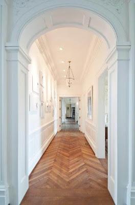 wood herringbone floor