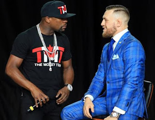 drake and diddy on Watch Mayweather vs. McGregor Match
