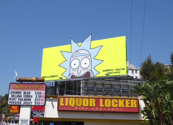Rick and Morty season 3 cut-out billboard