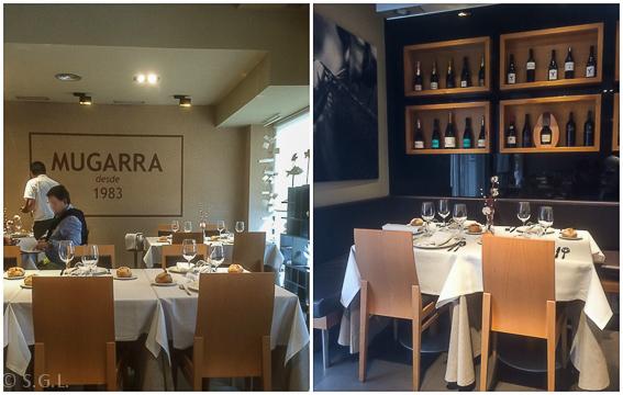 Comedor del restaurante Mugarra en Bilbao