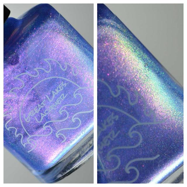 purple nail polish bottle
