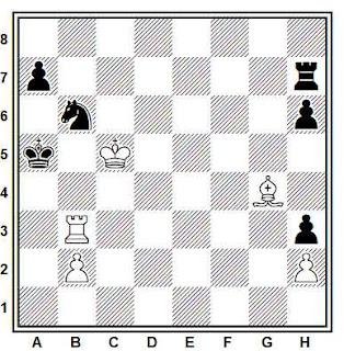 Estudio artístico de ajedrez compuesto por A. Troitzky (Schachmatny Jurnal, 1898)