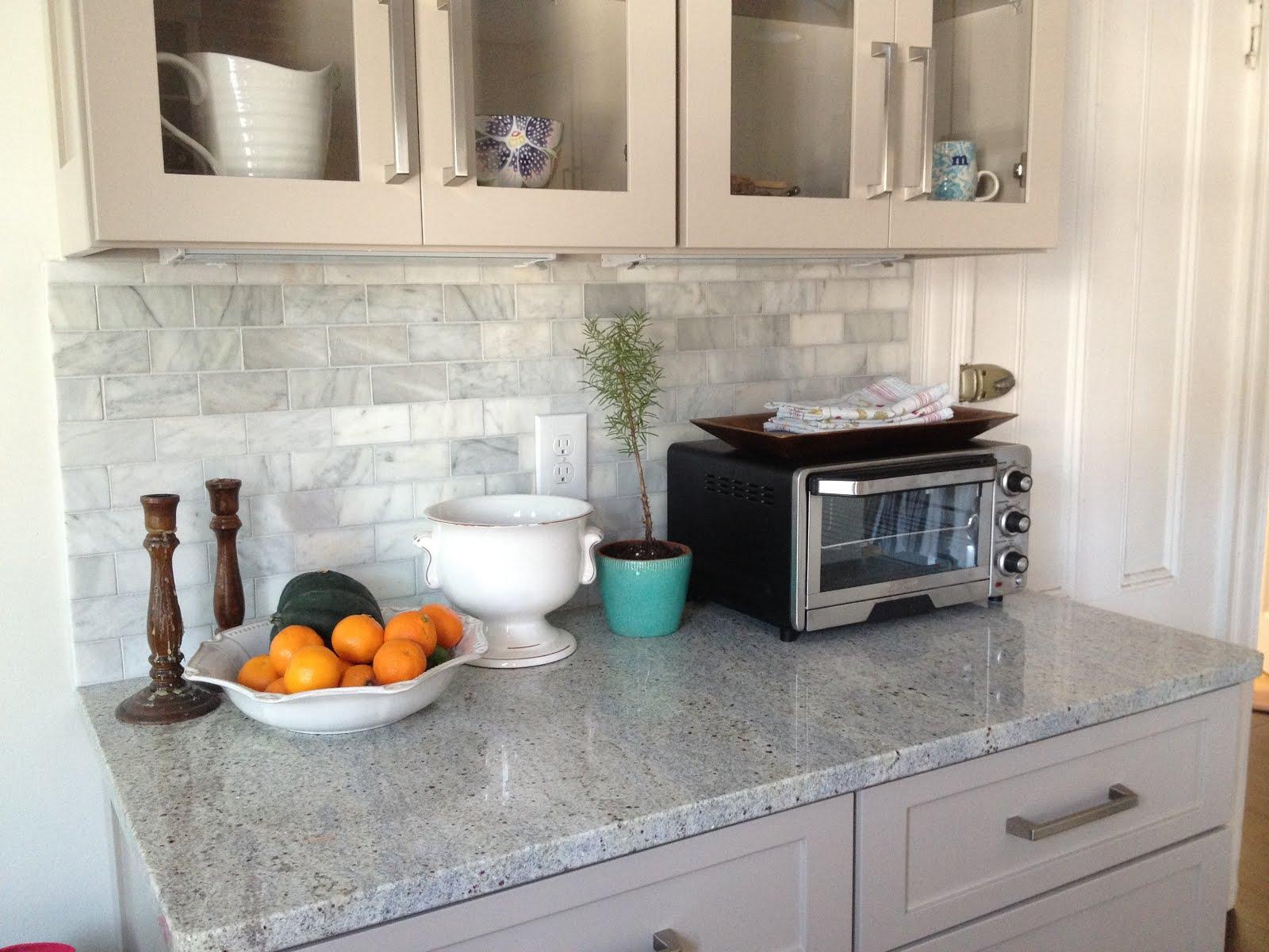 loft & cottage: the marble backsplash