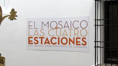 MOSAICO DE LAS CUATRO ESTACIONES, EXPOSICIÓN EN EL ARCHIVO HISTÓRICO PROVINCIAL, 150 ANIVERSARIO DEL MUSEO ARQUEOLÓGICO