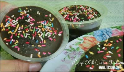 kek kukus coklat sukatan cawan paling senang