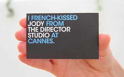 William Cookson - Graphic Design - French Kissing Business Card