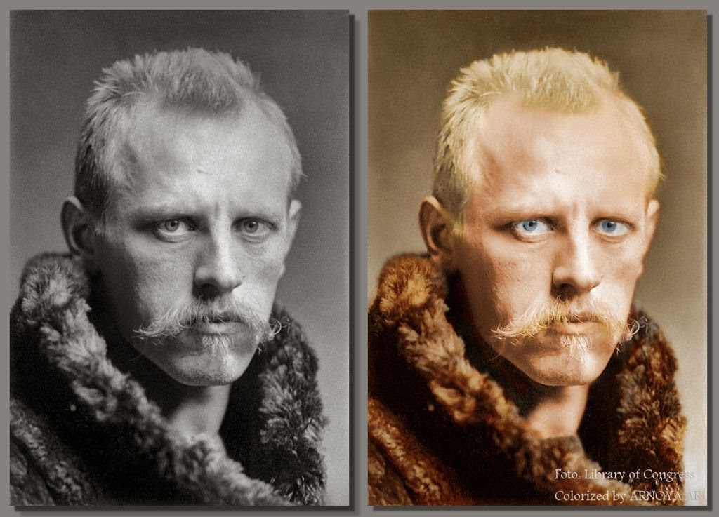 Fridtjof Nansen, color, colorization, colorized