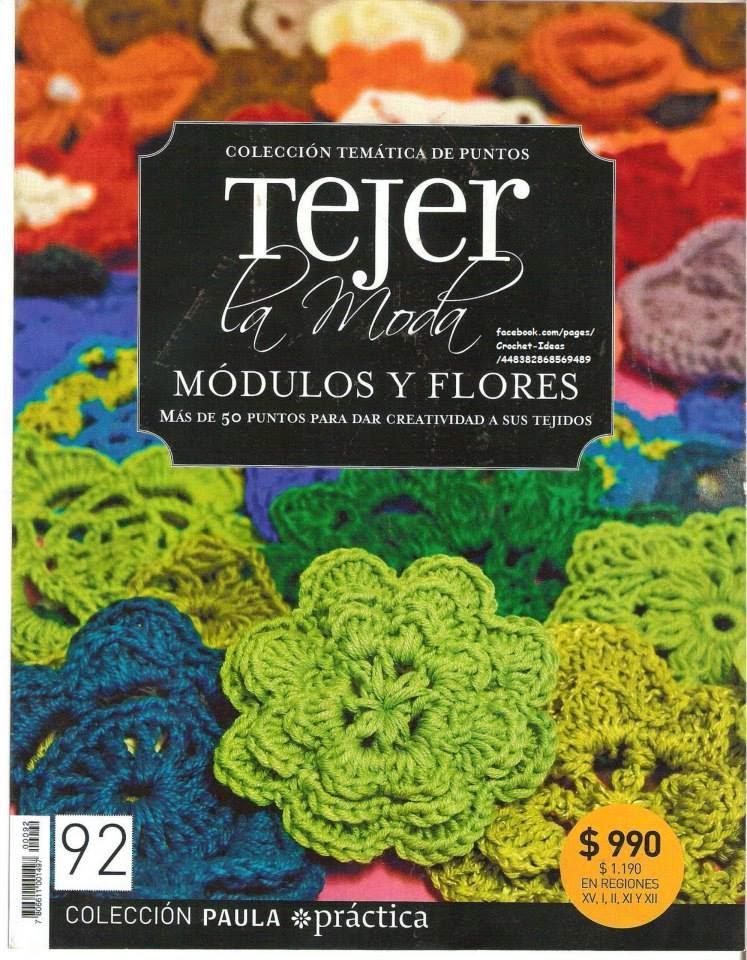 Revista Gratis Módulos Y Flores En Crochet Revistas De