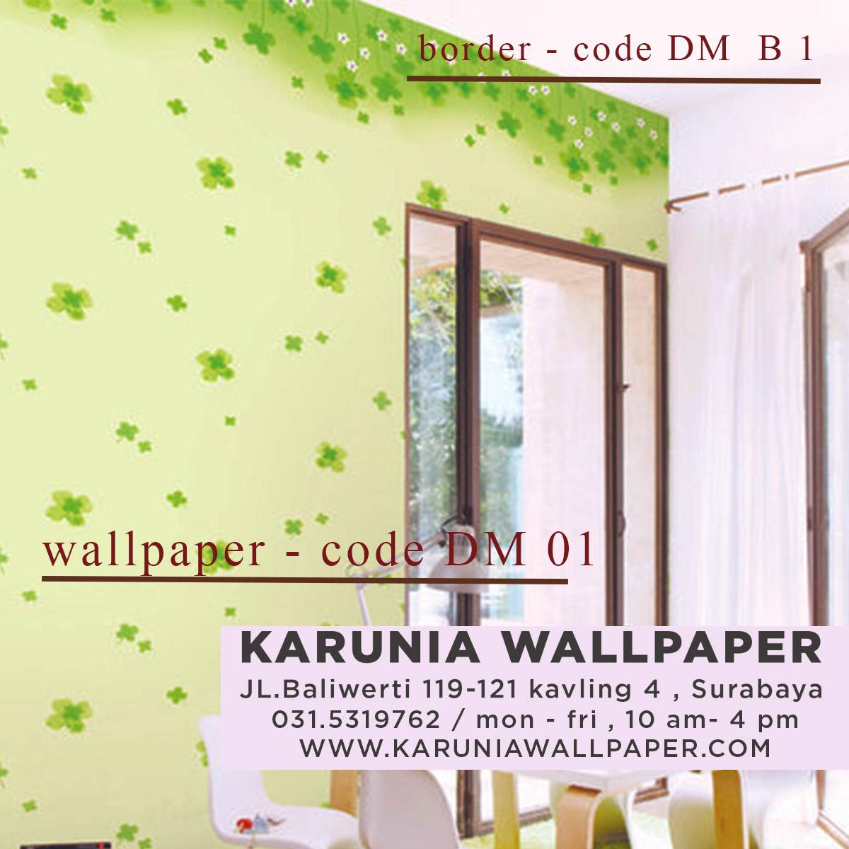 jual wallpaper dinding hijau