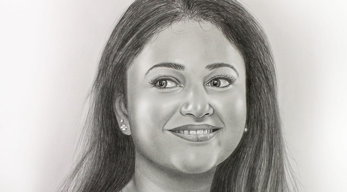 Extra Realistic Pencil Drawing by Graphic Designer Sony George‎