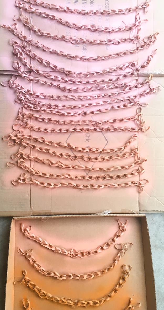 DIY faux woven wall art using rubber bands - how to make woven wall art - DIY art - back to school - office supplies - ombré - woven art - diy project - diy art project - fall home decor