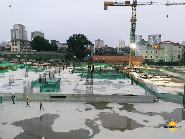 tiến độ thi công của dự án Hinode City Minh Khai