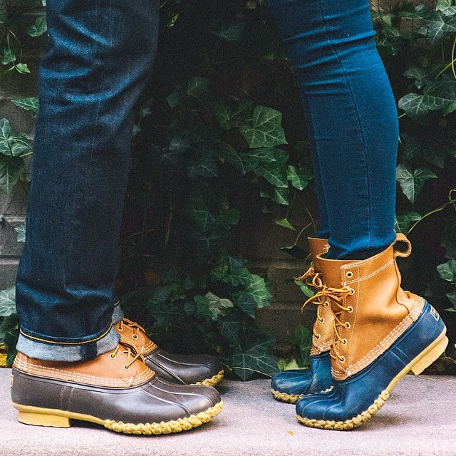 His & Hers LL Bean Duck Boots