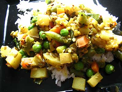 Dal Kootu (South Indian Lentils and Vegetables)