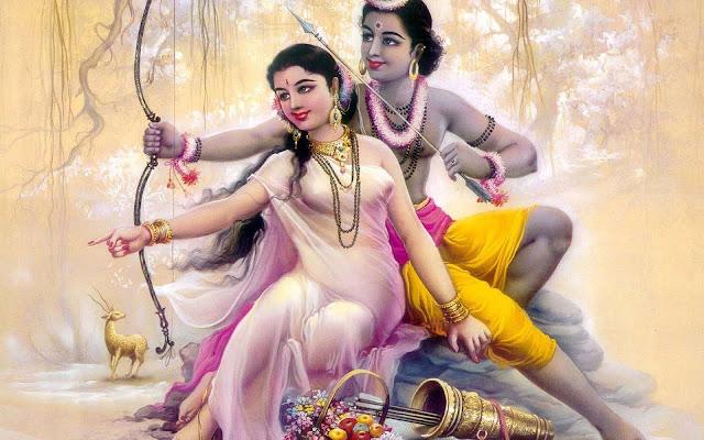 Beautifull Ram & Sita Wallpaper