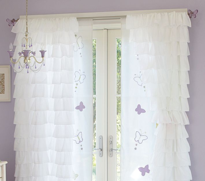 Christine Inspired: White Ruffled Curtains