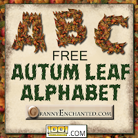 """Autumn Victoria"" JPG Free Scrapbook Alphabet Letters"