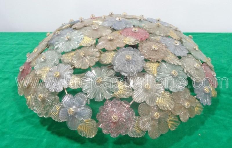 Ricambi Plafoniere Vetro : Fabbrica lampadari murano: roxette plafoniera in vetro di murano