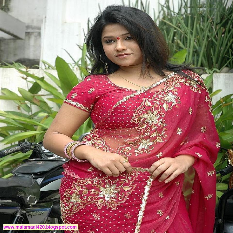 Mallu Bhabhi Joythi Krishna Hot In Red Blouse  Saree Hot -5325