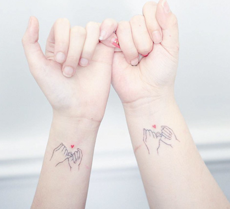 Pinky Promise Best Friend Tattoo ideas inspo inspiration examples friendship