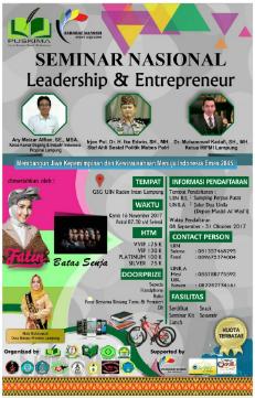 UKM Puskima Akan Menggelar Seminar Nasional Leadership and Enterpreneur