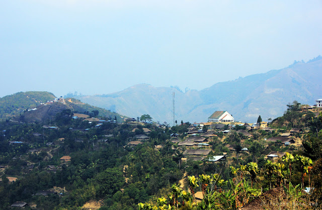 Nagaland Photos Longwa Village View from a distance