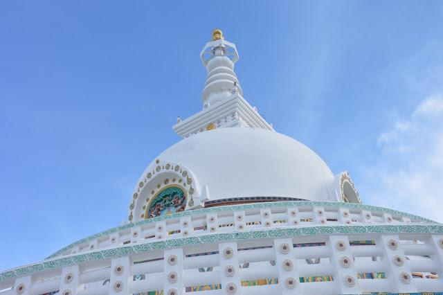 Shanti Stupa à Leh