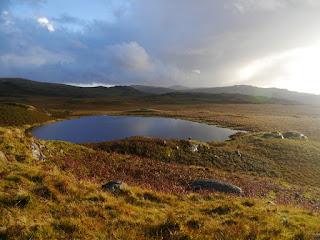 After the storm - evening sunshine on Low Birker Tarn