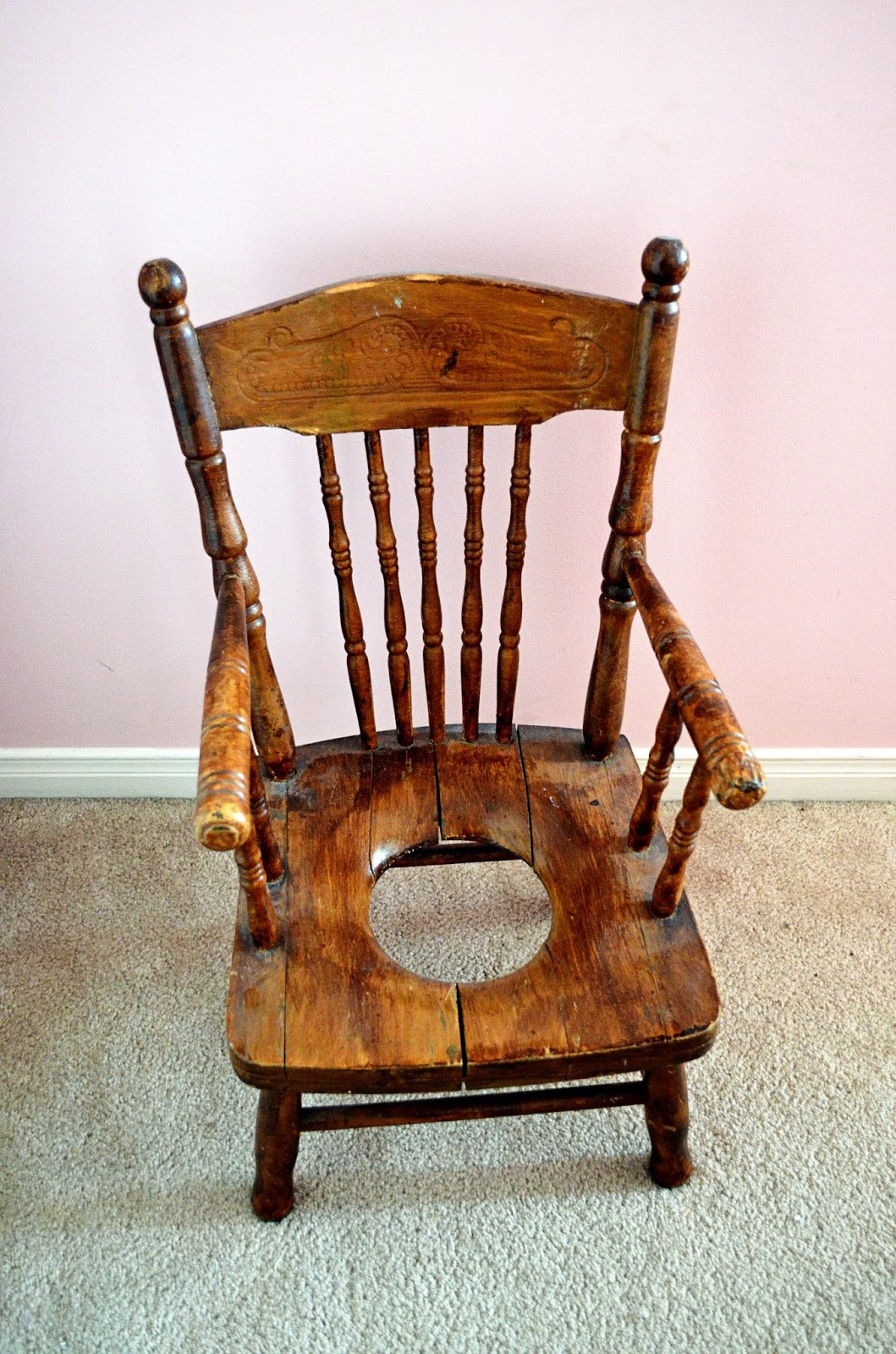 And here is Mom's potty chair. And you thought it was hard cleaning that  little plastic potty chair! - Woman In Real Life:The Art Of The Everyday: Antique Chairs